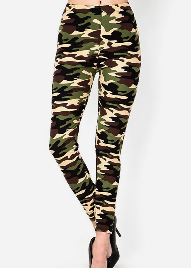 Camouflage Print Highwaisted Leggings