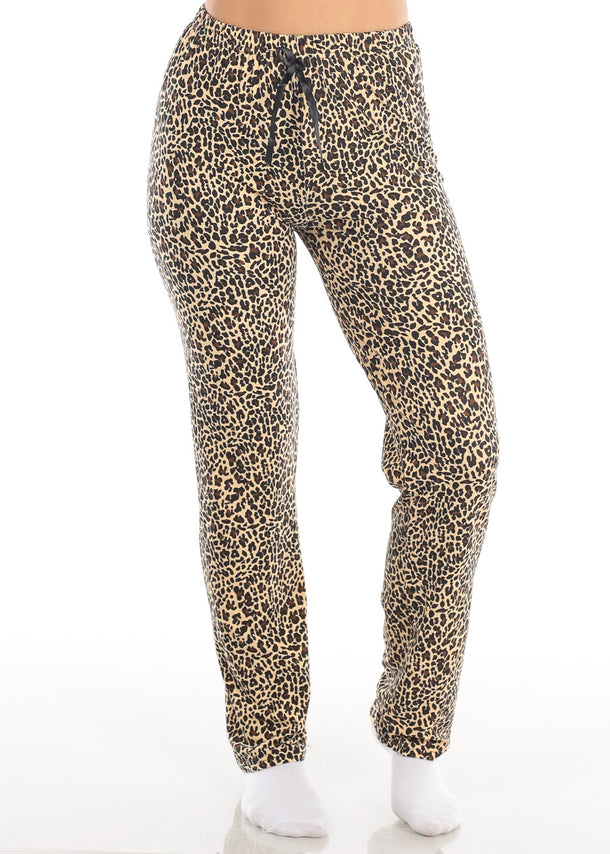 Cute High Waisted Animal Print Sleepwear Stretchy Pajama Pants