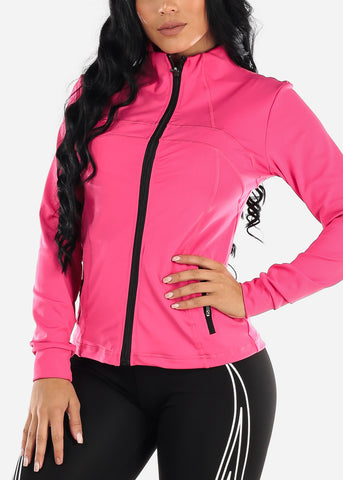 Activewear Zip Up Pink Jacket