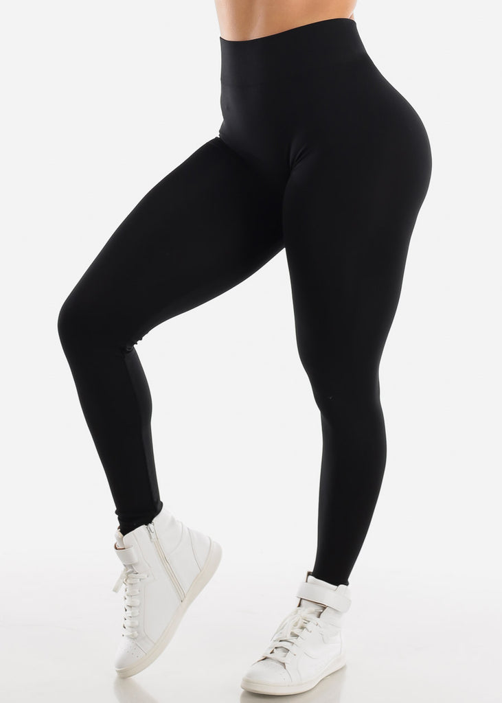 One Size Black Leggings