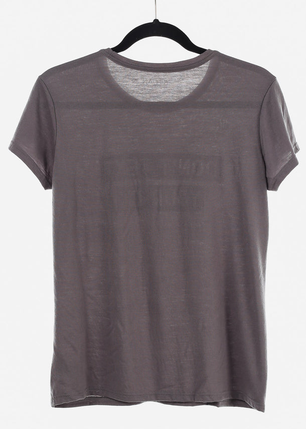 Grey Graphic Top