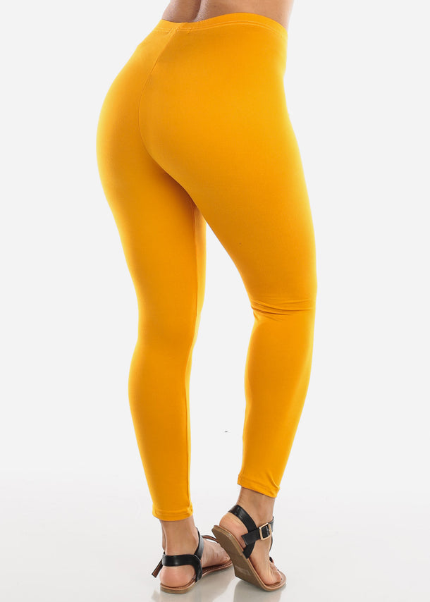 Basic Mustard Leggings