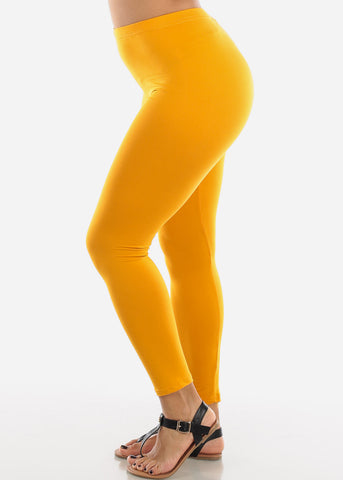 Image of Basic Mustard Leggings L140MUST