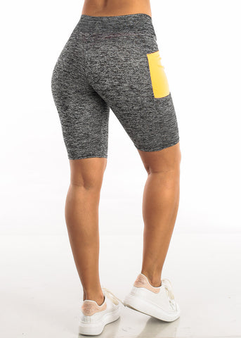 Image of Activewear Heather Orange Biker Shorts