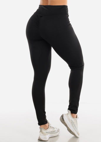 Activewear Push Up Black Leggings