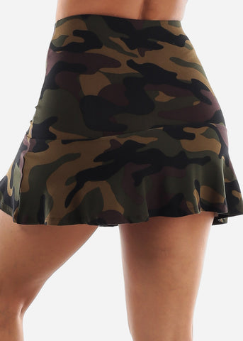 Image of High Waisted Camouflage Skirt