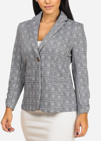 Image of Houndstooth Grey Blazer