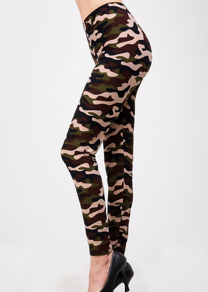 Camouflage High Rise Skinny Leggings