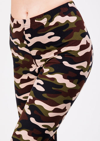 Image of Camouflage High Rise Skinny Leggings