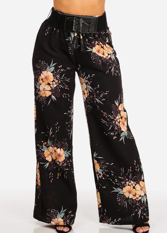 Ultra High Waist Floral Pants