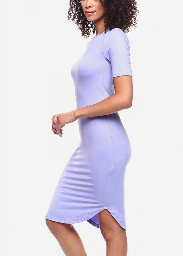 Lilac Bodycon Dress
