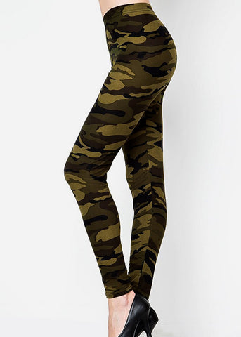 High Rise Camouflage Skinny Leggings