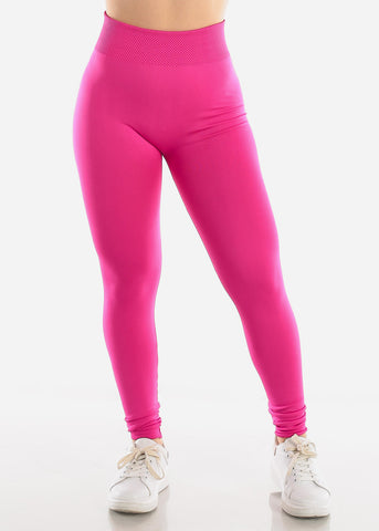 Image of Activewear Pink Fleece Leggings