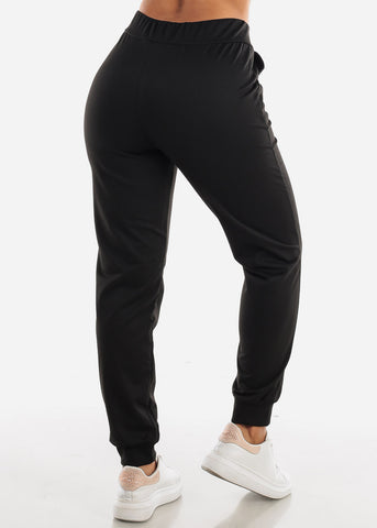 High Waisted Black Jogger Pants