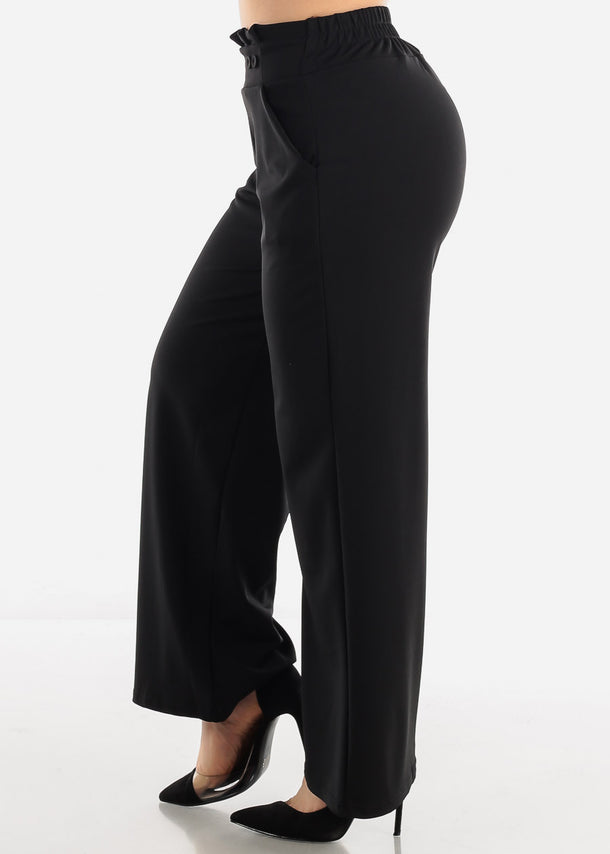 Black High Waist Dressy Pants