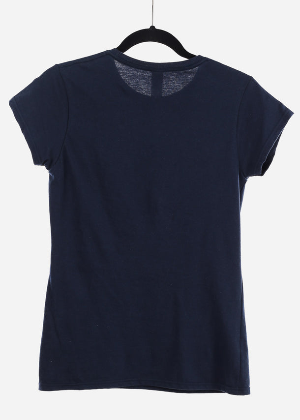 Navy Graphic Top