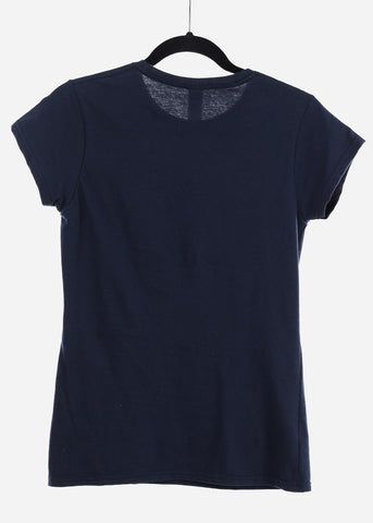 "Navy Graphic Top ""Super"""