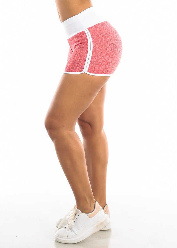 Activewear Heather Red Shorts