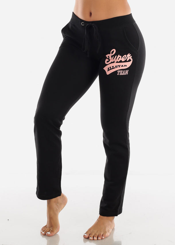"Black Jogger Sweatpants ""Super"""