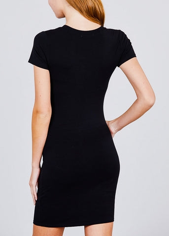 Image of Black Bodycon Mini Dress