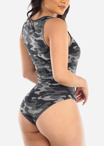 Grey Camo Bodysuit