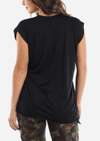 "Black Graphic Top ""Gitch"""