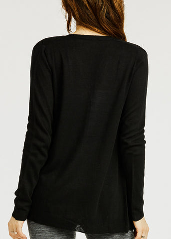 Image of Knitted Black Cardigan