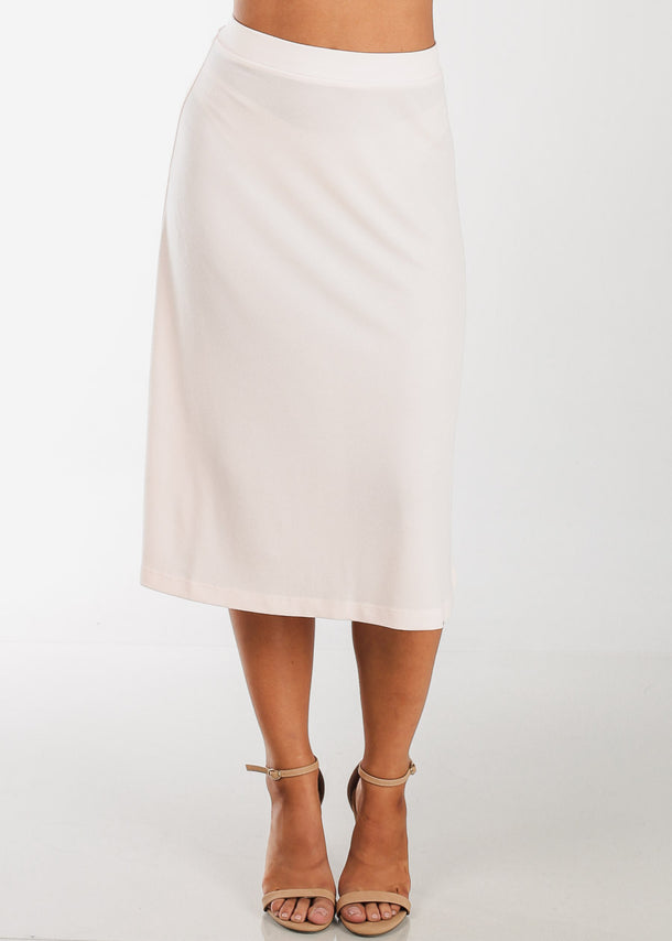 Discount Fit & Flare Light Pink Skirt