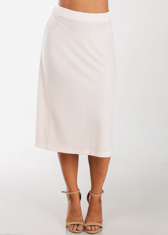 Image of Discount Fit & Flare Light Pink Skirt