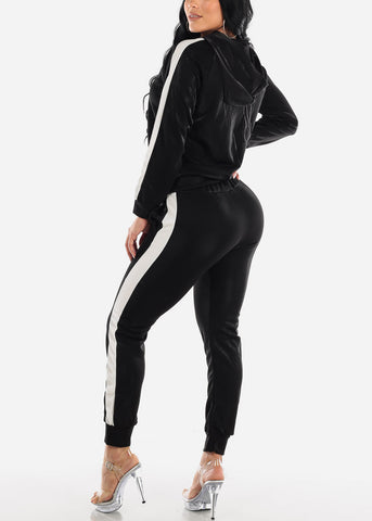 Image of Activewear Black Jacket & Pants (2 PCE SET)