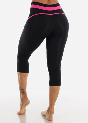 Image of Activewear Black Capri Leggings