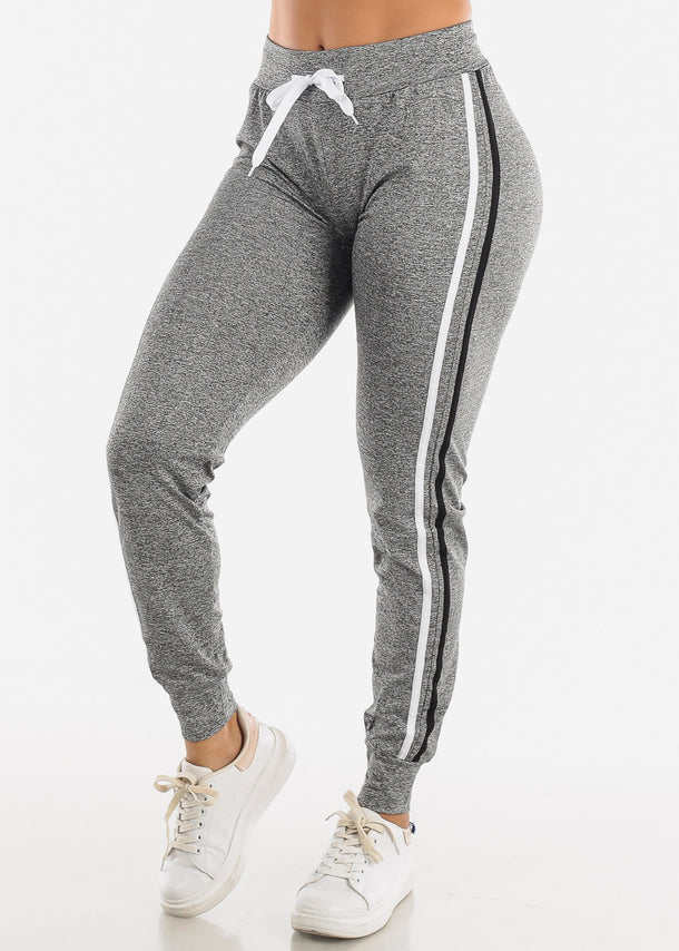 Heather Grey Side Stripe Joggers