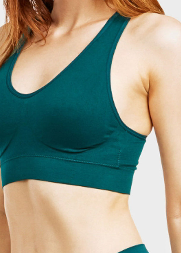 ONE SIZE Teal Racerback Sports Bra