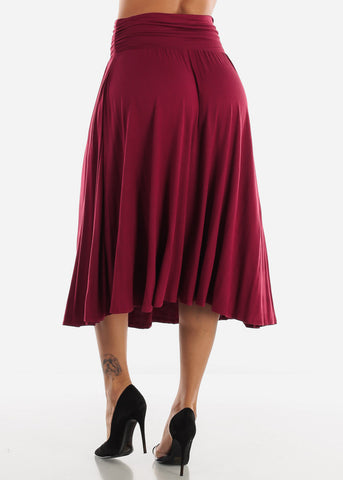 Burgundy Multi Way Dress Or Skirt