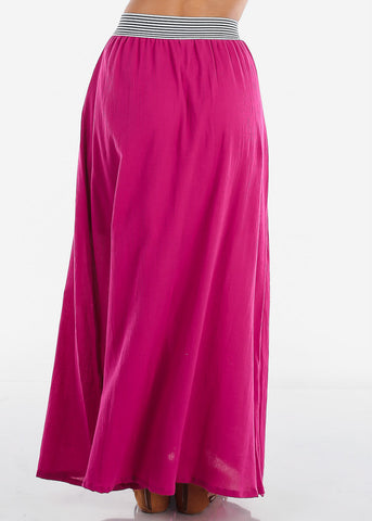 Image of Stylish Fuchsia Maxi Skirt