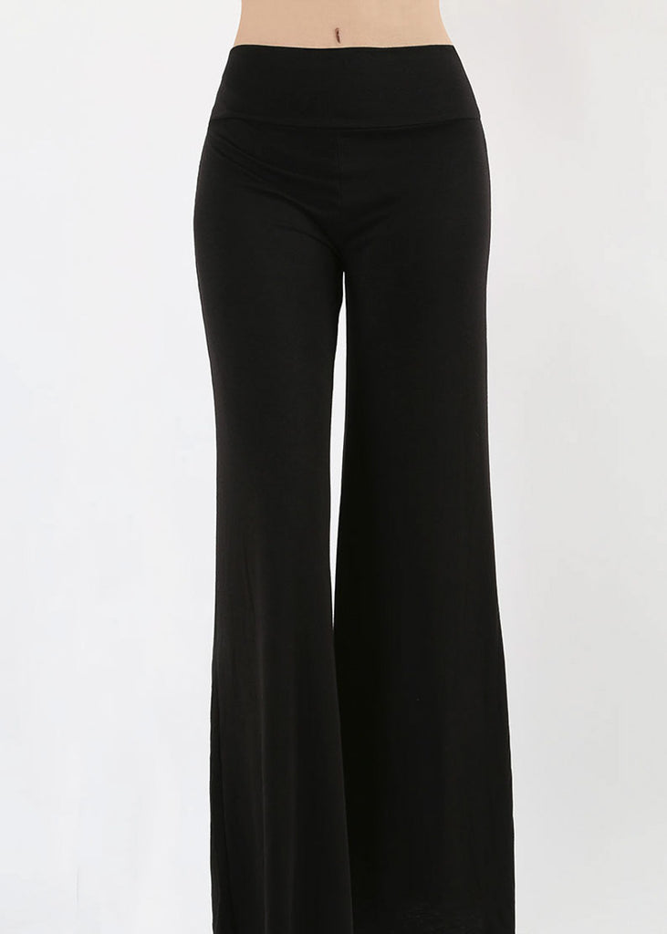 High Waisted Black Palazzo Pants