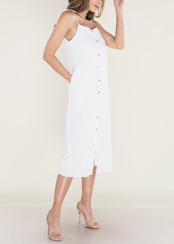 Image of White Midi Dress