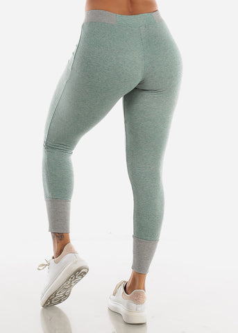 Heather Green Jogger Sweatpants