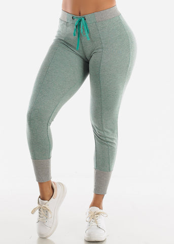Image of Heather Green Jogger Sweatpants