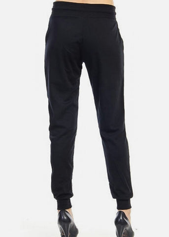 Image of Heather Black High Rise Jogger Sweatpants