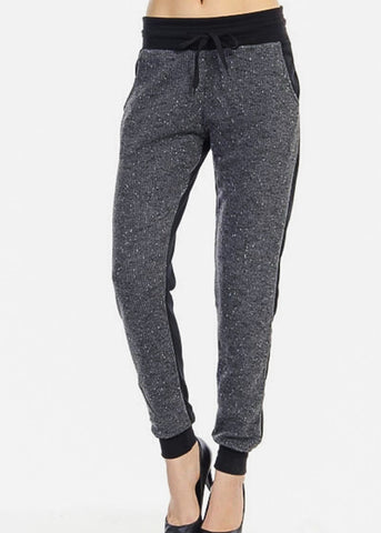 Heather Black High Rise Jogger Sweatpants