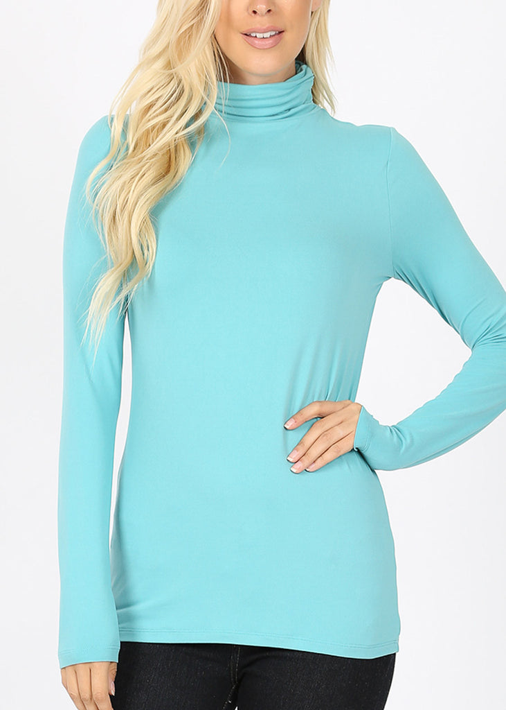 Mock Neck Mint Top