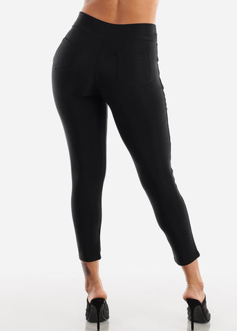 Pull On Black Skinny Pants