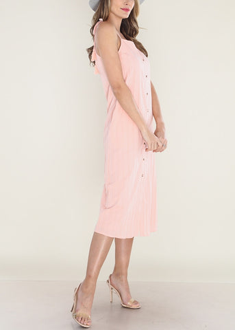 Image of Peach Midi Dress