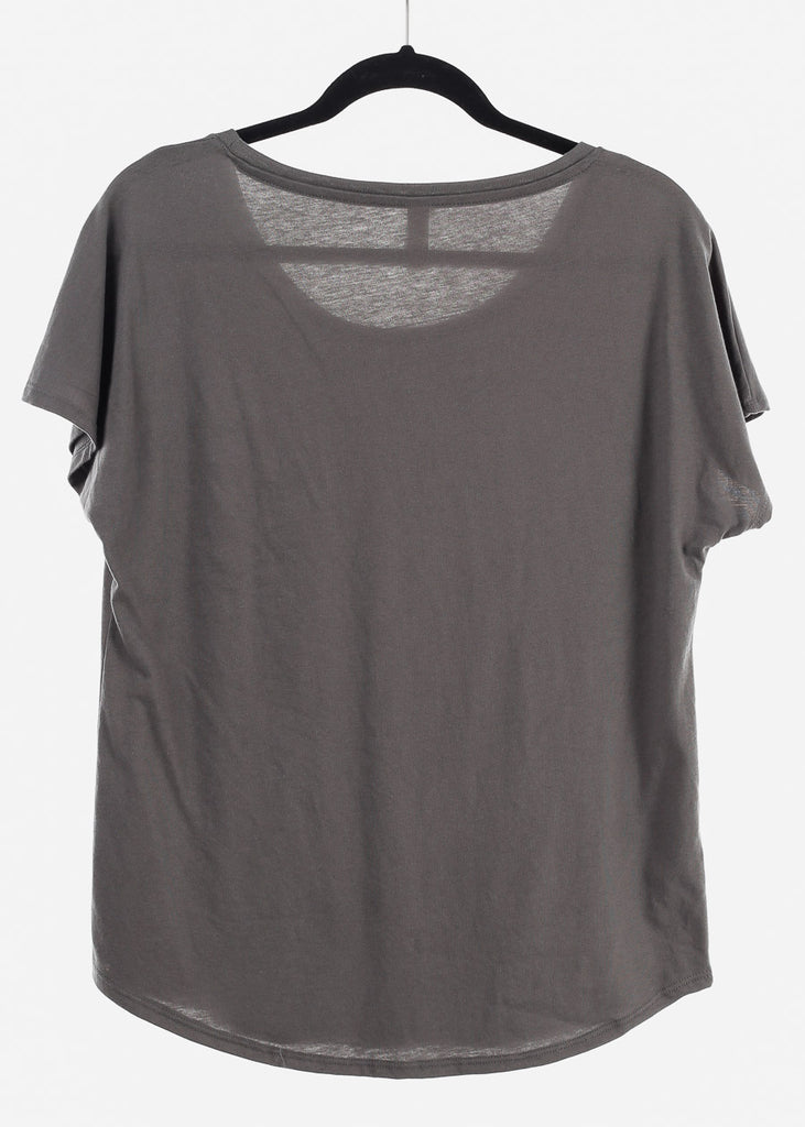 "Charcoal Graphic Top ""Femme Forever"""