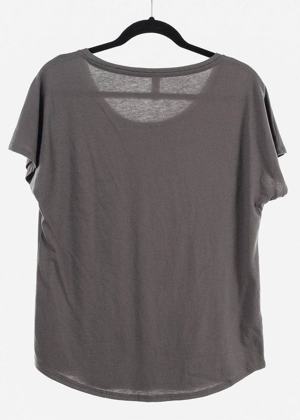 Charcoal Graphic Top