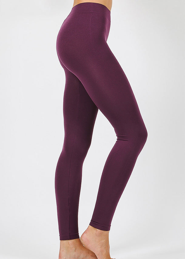 Purple Seamless Classic Leggings
