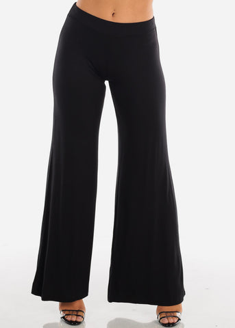 Image of Sexy Casual Trendy High Waisted Wide Legged Super Stretchy Wide Legged Pants For Women Ladies Junior On Sale