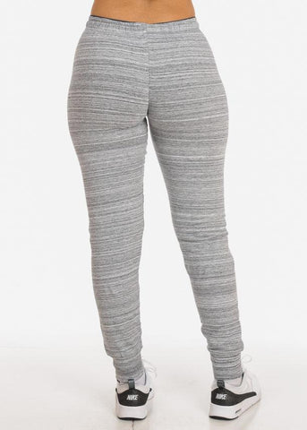 Stripe Grey Jogger Pants
