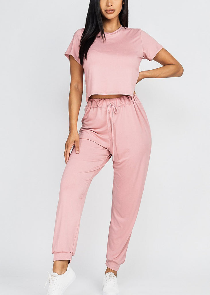 Mauve Top & Joggers (2 PCE SET)